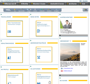 "Pflege des ""Personal Services"" Dashboards"