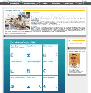 Beispiel Einsteigseite - SAP Fiori Launchpad + Content