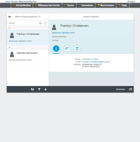 """Anzeige der Fiori App """"meine Ansprechpartner"""""""